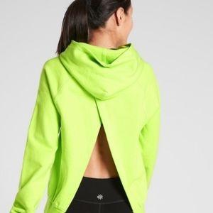 NEW athleta moonrise hoodie neon size XS